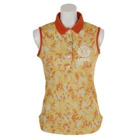 アドミラル(Admiral) ゴルフウェア レディース 迷彩ヤシの木 ノースリーブポロシャツ ADLA850-ORG (Lady's)