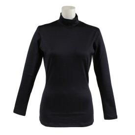 アンダーアーマー(UNDER ARMOUR) コールドギア インフラレッドエボ ロングスリーブ モックネックシャツ #1319667 BLK/BLK GO (Lady's)