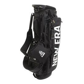 ニューエラ(NEW ERA) キャディバッグ スタンド式 ブラック ホワイトプリントロゴ 11901502 (Men's)