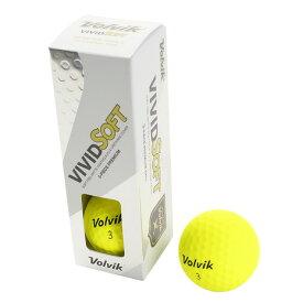 ボルビック(Volvik) ゴルフボール VIVID SOFT 3個入り イエローL (Men's)