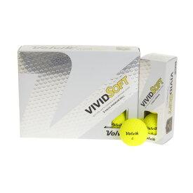 ボルビック(Volvik) ゴルフボール VIVID SOFT イエローL 1ダース (Men's、Lady's)