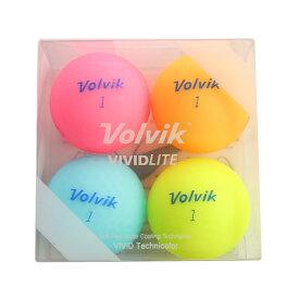 ボルビック(Volvik) ゴルフボール 4個入り VIVID LITE ASST 4PC (Men's、Lady's)