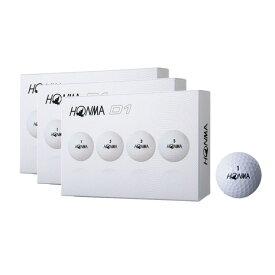 本間ゴルフ(HONMA) ★HONMA NEW D1 ホワイト 3ダースセット (メンズ)