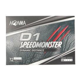 本間ゴルフ(HONMA) ゴルフボール D1 スピードモンスター SPEED MONSTER BT2003 WH 1ダース(12個) (メンズ)