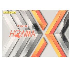 本間ゴルフ(HONMA) ゴルフボール TW-X-YE 1ダース BT1908-YE (Men's、Lady's、Jr)
