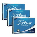 【買いまわりでポイント最大10倍!】タイトリスト(TITLEIST) ゴルフボール 18 TOUR SOFT T4011S 3ダースまとめ買いセット ホワイト (Men's)