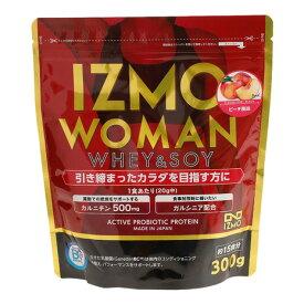 イズモ(IZMO) ホエイ ソイ 乳酸菌配合 WOMANプロテイン 燃焼サポート ウェイトダウン ピーチ風味 大豆 減量 300g 約15食入 (メンズ、レディース)