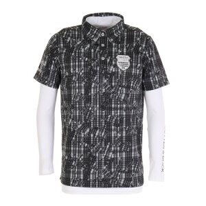 カッターアンドバック(CUTTER&BUCK) インナー付き半袖ニットボタンダウンシャツ CGMOJA04W-BK00 (メンズ)