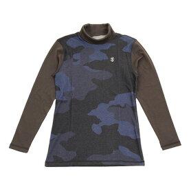 アドミラル(Admiral) カモ柄 ハイネックシャツ ADMA8S7-NVY (メンズ)