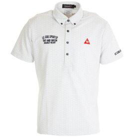ルコック スポルティフ(Lecoq Sportif) クーリストフェステントプリント半袖シャツ QGMPJA24-WH00 (メンズ)