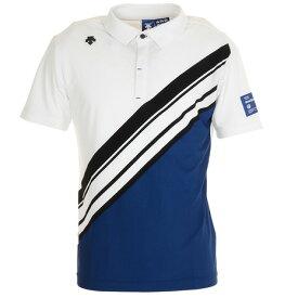 デサントゴルフ(DESCENTEGOLF) ゴルフ ポロシャツ メンズ ライジングプリント鹿の子シャツ DGMPJA32-NV00 (メンズ)