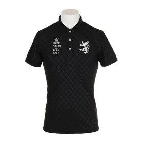 アドミラル(Admiral) ゴルフウェア メンズ バイアスエンボス 半袖ポロシャツ ADMA916-BLK (Men's)
