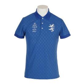 アドミラル(Admiral) ゴルフウェア メンズ バイアスエンボス 半袖ポロシャツ ADMA916-RBL (Men's)
