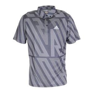 アディダス(adidas) ジャカード 半袖ボタンダウンシャツ 23281-GM3634N (メンズ)