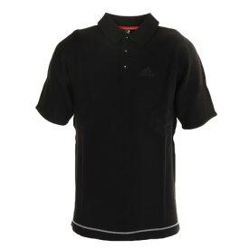 アディダス(adidas) ジャカードパターン 半袖ニットシャツ GKI47-FI8768BK (Men's)