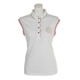 フォーリアブリランテ(FogliaBrillante) ゴルフウェア レディース ノースリーブポロ FBAL-SLPO3-W (Lady's)