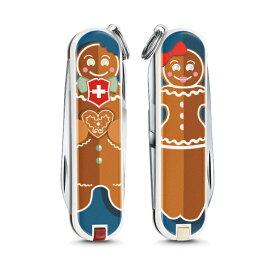 【特典付】VICTORINOX(ビクトリノックス)公式 クラシック リミテッド エディション 2019 Gingerbread Love (しょうがパンぼうや) 保証書付 0.6223.L1909【日本正規品】レジャー アウトドア ナイフ マルチツール・十徳ナイフ マルチツール