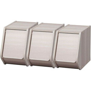 【収納ボックス】【3個セット】スタックボックス 扉付き 幅20cm【収納ケース 木製ラック 前開き】アイリスオーヤマ STB-200D・ナチュラル×3個・ブラウン×3個・・iチュラル2ブラウン1・ナチュ