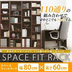 【送料無料】アイリスオーヤマ スペースフィットラック(幅80×奥行29×高さ60cm) S-SFR6080 全2色 新生活