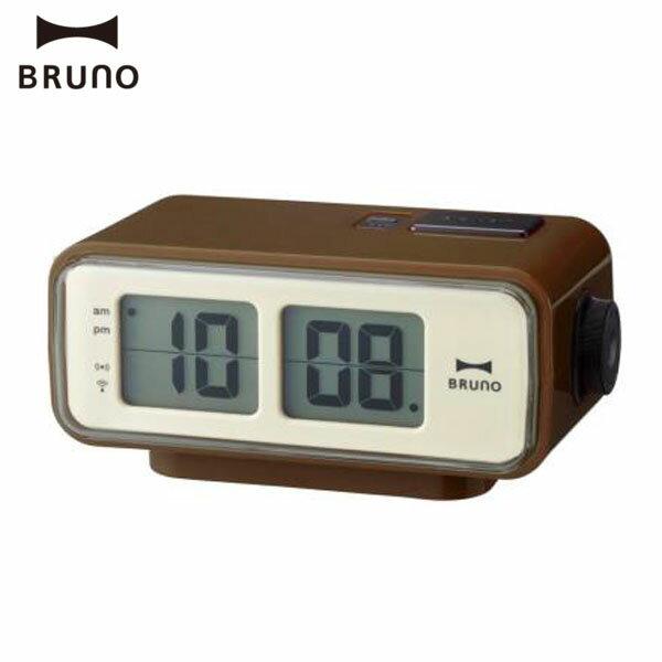 【在庫限り】LCDレトロアラームクロック BCR003-BR 2760171 【D】【ID】【置時計 置き時計 卓上 IDEA 電波時計 目覚まし時計 】【■】