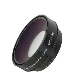 《新品》【送料無料、在庫あり!】Zunow WCX-80R62 Φ62/72mm 0.8倍ワイドコンバージョンレンズ