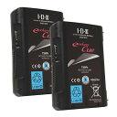 《新品》【送料無料、在庫あり!】IDX CUE-D75 2本 Vマウントタイプ リチウムイオンバッテリー