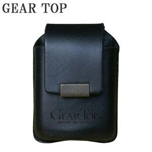 GEAR TOP オイルライター専用 革ケース ベルト通し付 GT-201 BK