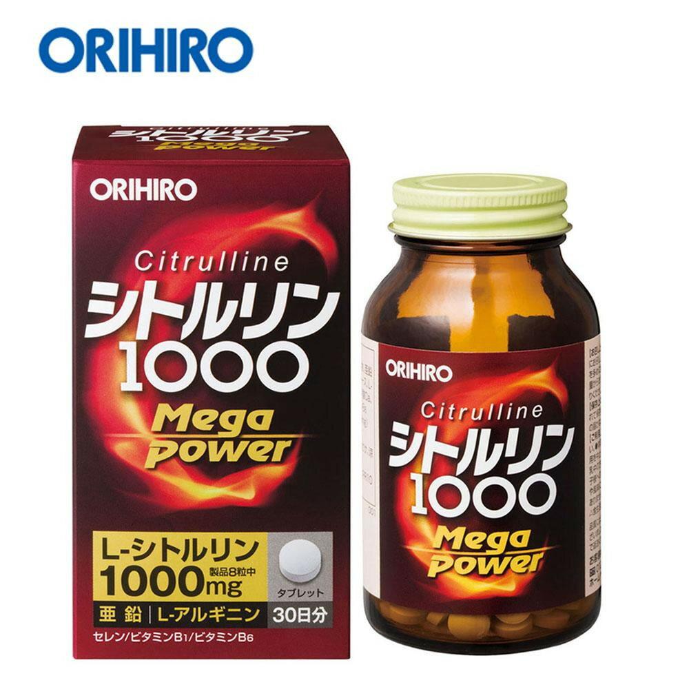 オリヒロ シトルリン Mega Power 1000 72g(240粒) 60204074 【RCP】送料込みで販売! (北海道・沖縄は送料別)