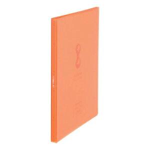 クリアーファイル ヒクタス±(透明)スティック・タイプ A4タテ型 40ポケット オレンジ 7181TWオレ