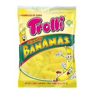 Trolli(トローリ) キャンディバナナ 100g×12個セット送料込!【代引・同梱・ラッピング不可】