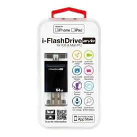 Photofast i-FlashDrive EVO for iOS&Mac/PC Apple社認定 LightningUSBメモリー 64GB IFDEVO64GB