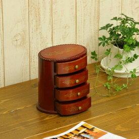 小引出し キーボックス 卓上小引き出し 4段 幅18cm 奥13.5cm 高19cm 天然木製 完成品 OV1819送料込!