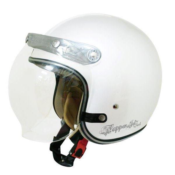 ダムトラックス(DAMMTRAX) ジェットヘルメット フラッパージェットネクスト P.WHITE 送料込!