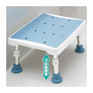 浴室用2ウェイステップ台(風呂椅子/踏み台) 幅40cm×奥行30cm 脚ゴム付き ブルー(青) 送料込!