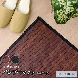 糸なしタイプ 竹の廊下敷き ブラック 80×440cm 送料無料!