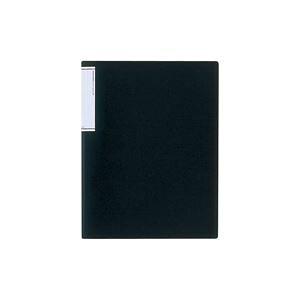 (業務用3セット) LIHITLAB クリアファイル/ポケットファイル 【A4/タテ型】 10冊入り 超スリムタイプ N7110-24 黒 送料込!