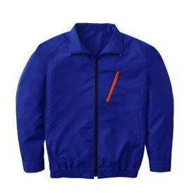 空調服 ポリエステル製長袖ブルゾン P-500BN 【カラー:ブルー サイズ:M】電池ボックスセット 送料無料!