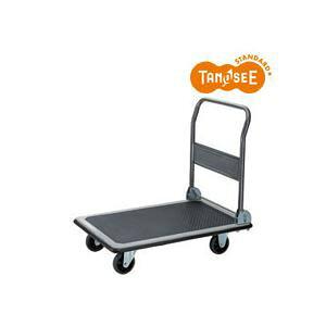 (まとめ)TANOSEE スチール台車 300kg荷重 黒 3台 送料込!