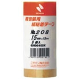 (業務用5セット)ニチバン 紙粘着テープ 208-15 15mm×18m 8巻 送料込!