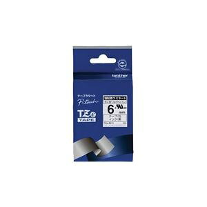 (まとめ)ブラザー工業 強粘着テープTZe-S211白に黒文字 6mm【×3セット】 送料込!