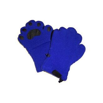 供提高基本工資手工fleece連指手套小孩使用的鈷藍色BEMTCB-YS