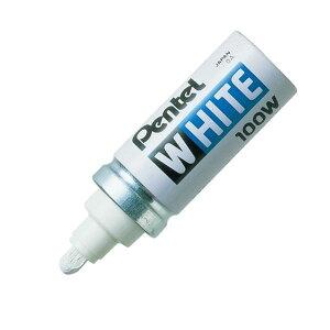 (まとめ) ぺんてる 油性ペイントマーカー ホワイト 太字 X100-WD 1本 【×30セット】 送料込!