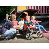Automatic brakes include the postage for the .4-passenger high-performance model large size stroller Familidoo (family Doe) kindergarten nursery school walk with the folding independence function!
