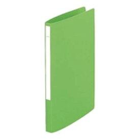 (業務用100セット) LIHITLAB パンチレスファイル/Z式ファイル 【A4/タテ型】 F-347U-6 黄緑 送料込!
