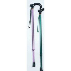 杖/アルミ製カラー杖(房付き)(1) 日本製 長さ9段階調節可 アルミ (歩行補助用品/介護用品) パープル(紫)