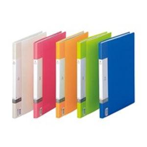 (業務用100セット) LIHITLAB クリアファイル/ポケットファイル 【A4/A3】 タテ型/サイドイン 40ポケット 固定式 G3401-8 青 送料込!