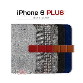 araree iPhone6 Plus Neat Diary カシミヤブルー