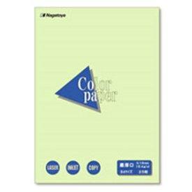 (業務用100セット) Nagatoya カラーペーパー/コピー用紙 【B4/最厚口 25枚】 両面印刷対応 若草 送料込!