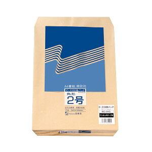(まとめ) ピース R40再生紙クラフト封筒 テープのり付 角2 85g/m2 845 1パック(100枚) 【×4セット】 送料込!