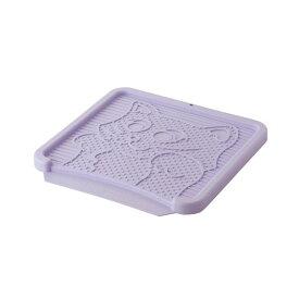 リッチェル NEWコロル 猫の砂取りマット 紫(猫用)【ペット用品】